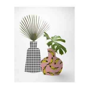 Sada 2 textilných váz na kvetiny Really Nice Things Bahamas