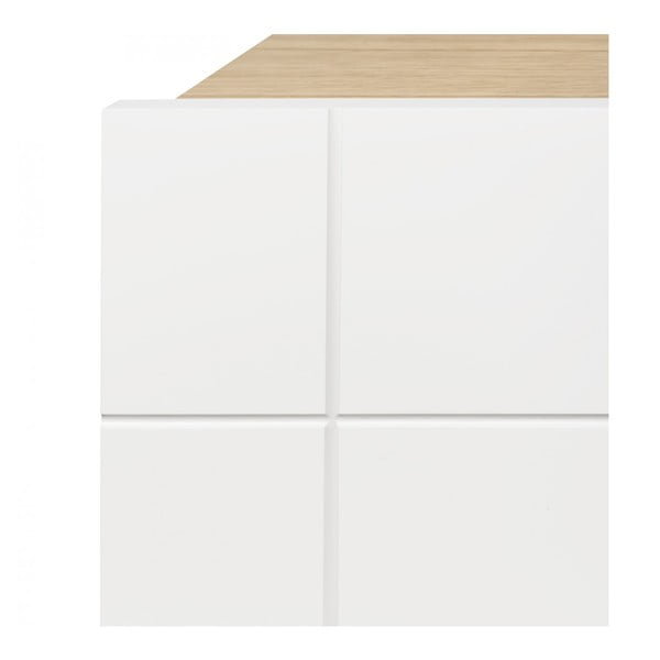 Televízny stolík Cruz Pure White/Oak