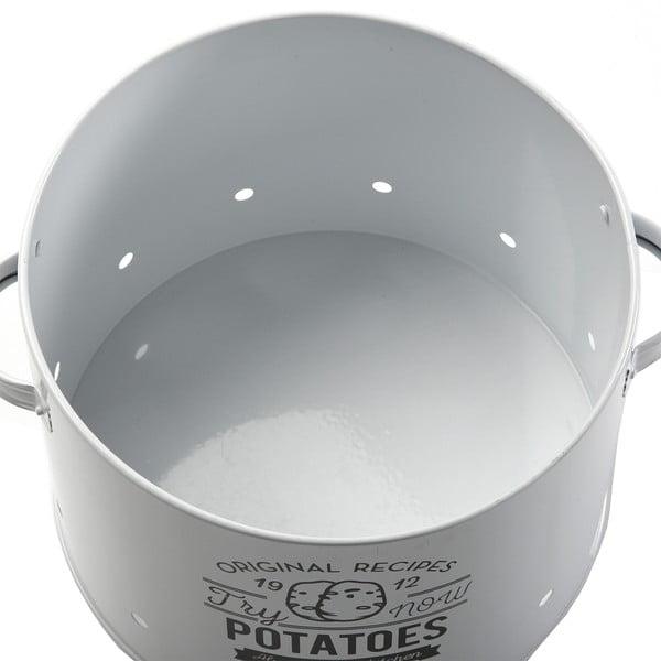 Set 3 kovových nádob, biele