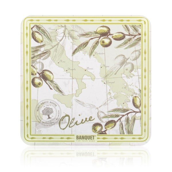 Sada plastového prestierania Banquet Olives, 12ks