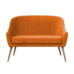 Oranžová pohovka Hawke&Thorn Herman