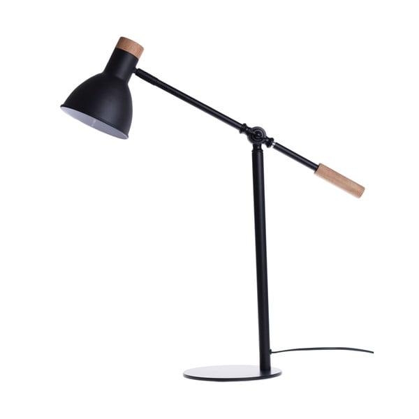 Čierna stolová lampa Ewax Woody