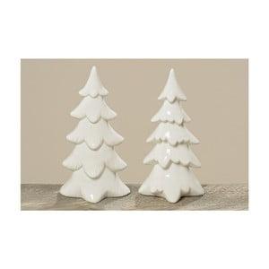 Sada 2 ks porcelánových stromčekov stromu zime, 22 cm