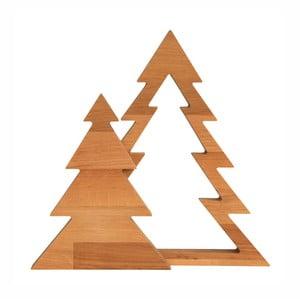 Dekorácia z jelšového dreva Nørdifra Duo Xmas, výška 32,5 cm