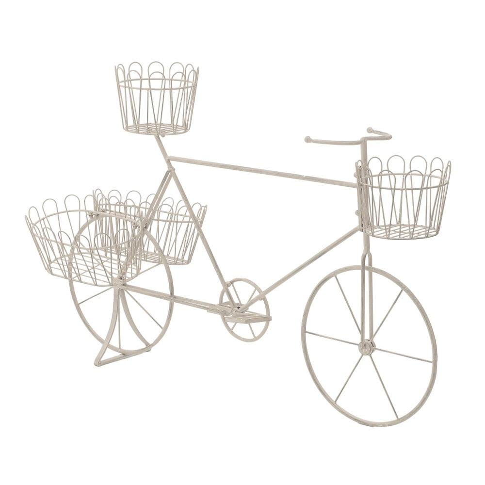 Kovový stojan na kvetináč v tvare bicykla InArt
