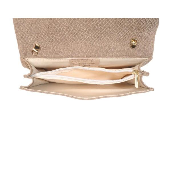 Kožená listová kabelka New Beige