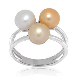 Prsteň s perlou Nova Pearls Copenhagen Delphine, veľ. 54