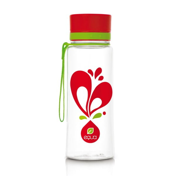 Plastová fľaša Equa Heart, 0,6 l