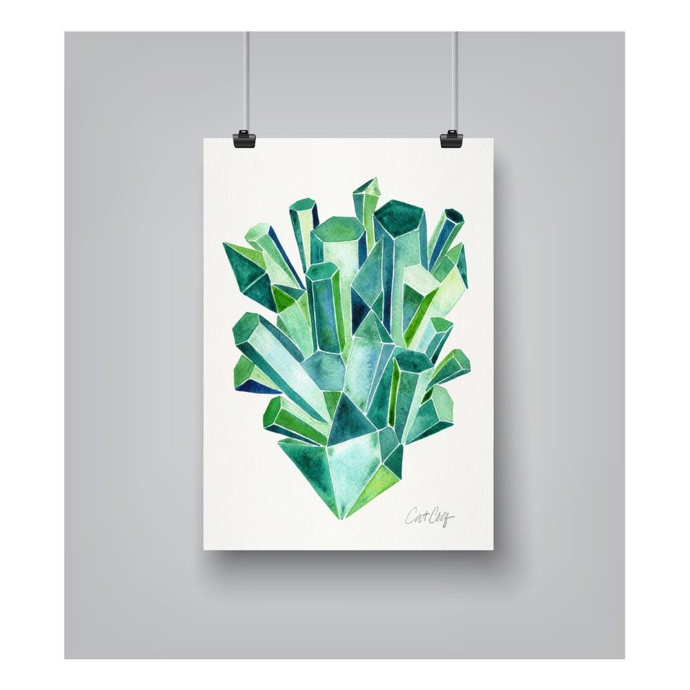 Plagát Americanflat Emeralds, 30 x 42 cm
