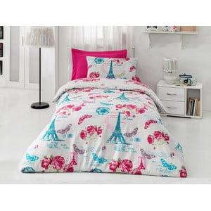 Obliečky s plachtou Pink Rose, 160x220cm