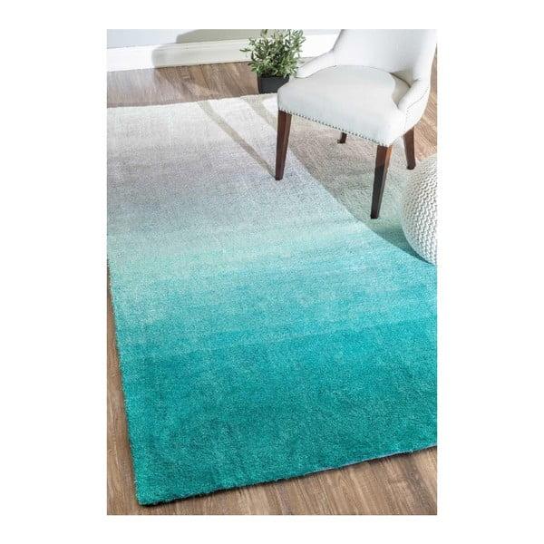 Koberec Ombre Turquoise, 152x243 cm