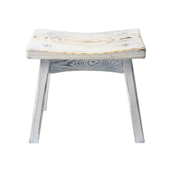 Dřevěná stolička Stool, bílé dřevo