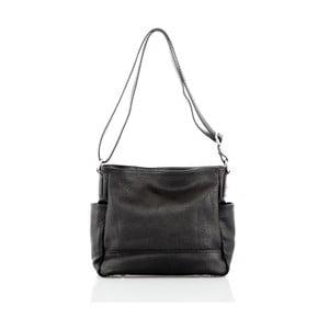 Čierna kožená kabelka Glorious Black Shirly