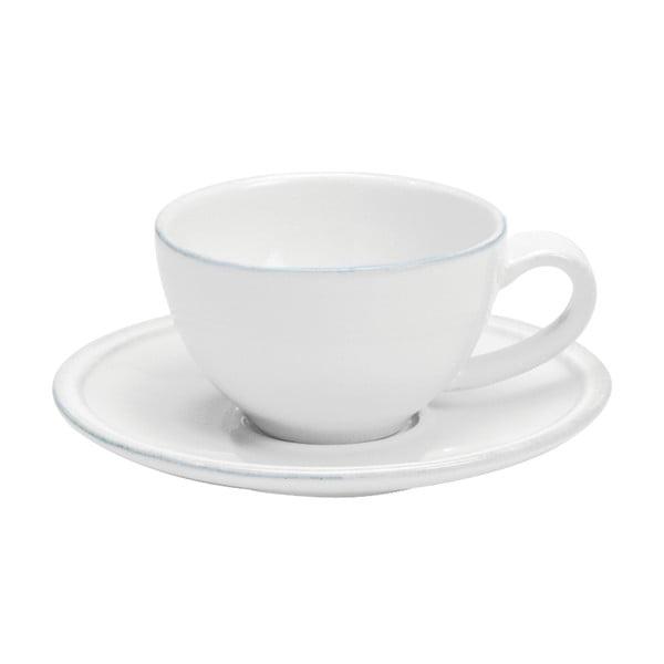 Biela kameninová šálka na kávu s tanierikom Costa Nova Friso, objem 90ml
