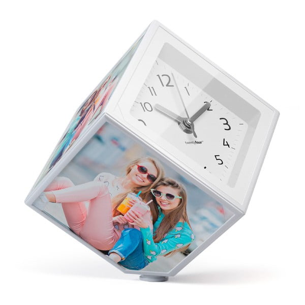 Rotujúca fotokocka s hodinami Balvi, 10x10 cm