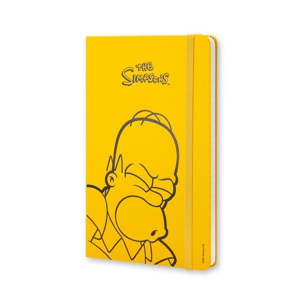 Žltý zápisník Moleskine The Simpsons, veľký