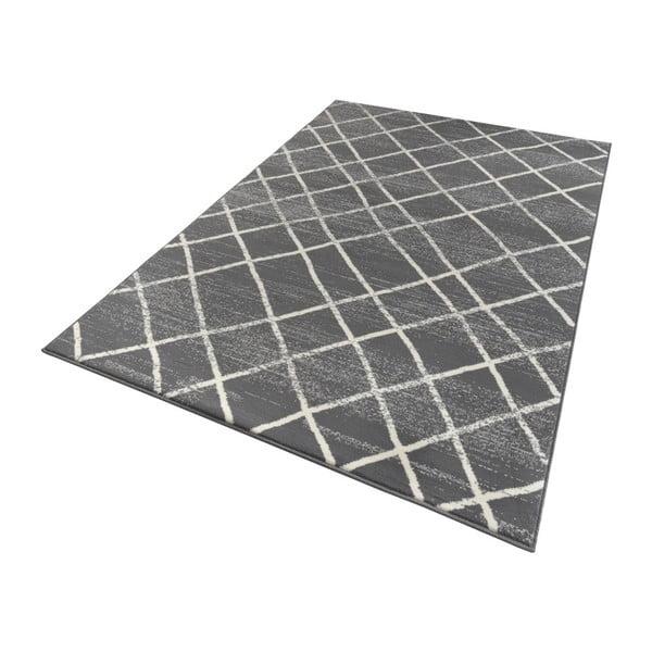 Tmavosivý koberec Zala Living Rhombe, 70×140cm