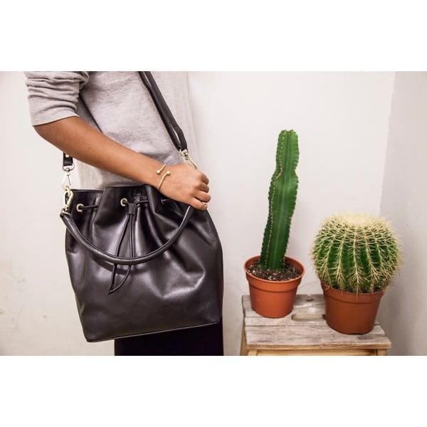 Čierna kožená kabelka O My Bag The Donna
