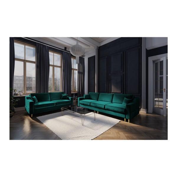 Zelená dvojmiestna pohovka Mazzini Sofas Marigold