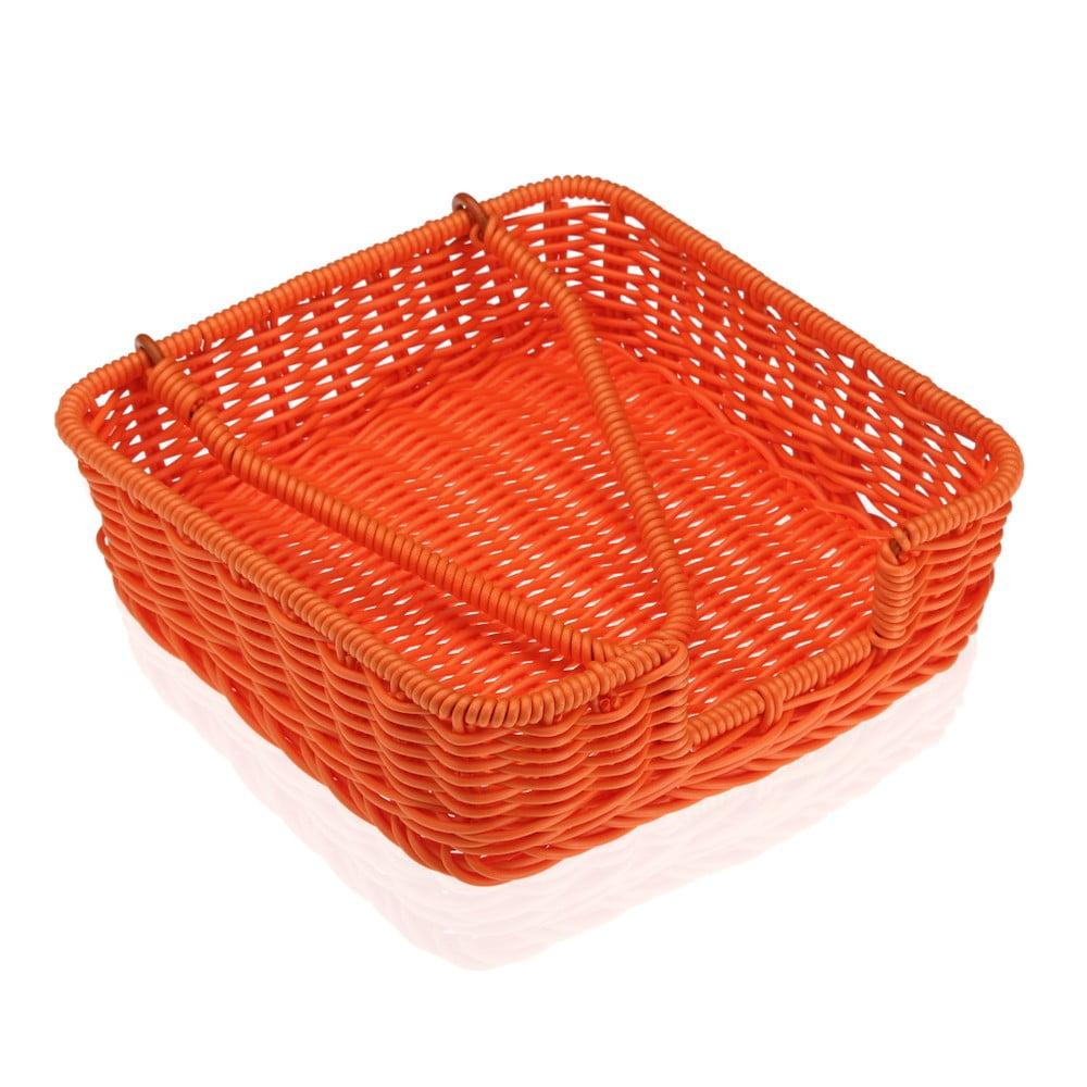 Oranžový košík na papierové obrúsky Versa Wonda, 20 × 20 cm