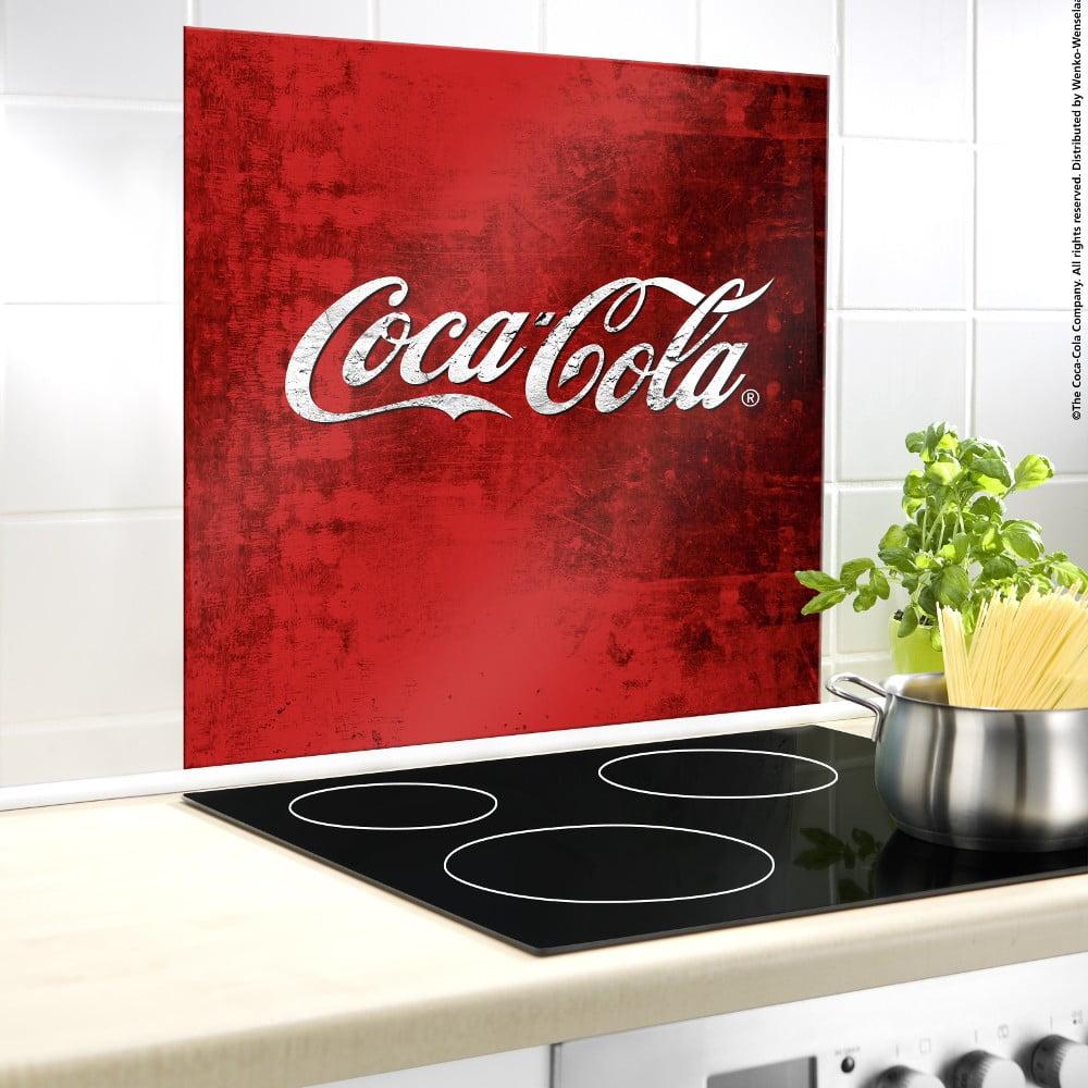 Sklenený kryt na stenu pri sporáku Wenko Coca-Cola Classic, 60 × 50 cm