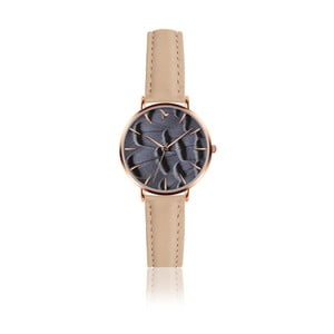 Dámske hodinky s béžovým remienkom z pravej kože Emily Westwood Young