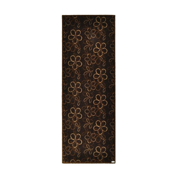 Rohožka Floral Brown, 67x180 cm