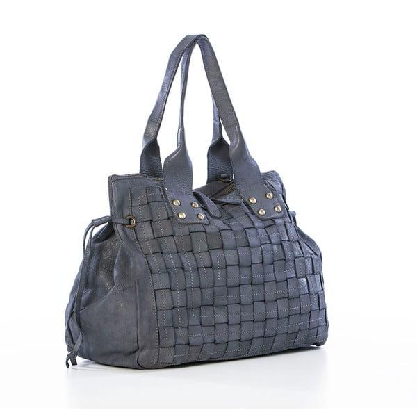 Sivá kožená kabelka Federica Bassi Ginny