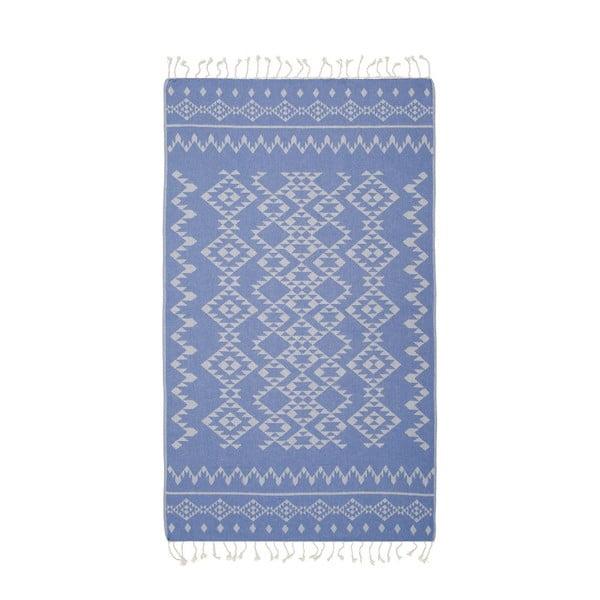 Hammam osuška Carpet Blue, 100x180 cm