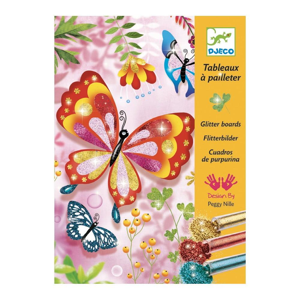 Detská kreatívna sada pieskovanie Djeco Trblietavé motýle
