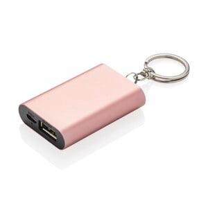 Kompaktná powerbanka na kľúče v ružovej farbe XD Design