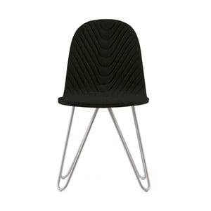 Čierna stolička s kovovými nohami IKER Mannequin X Wave