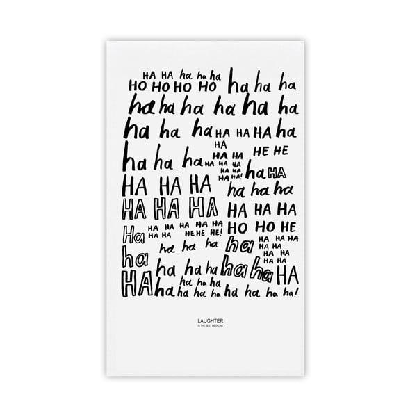 Utierka Laughter, 48x78 cm