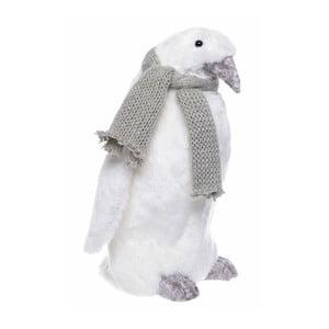 Biela dekorácia Ewax Pinguino, výška 27 cm