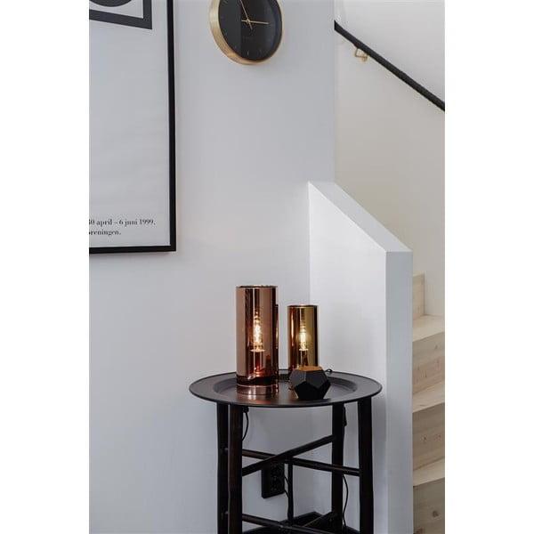 Strieborná stolová lampa Markslöjd Storm, ⌀ 12 cm