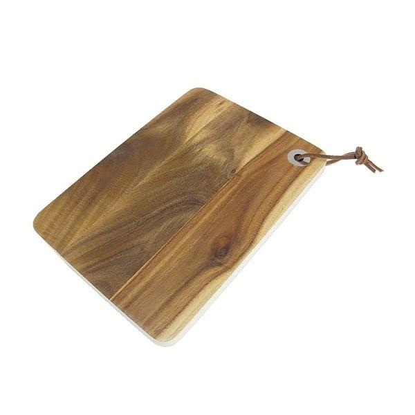Doštička na krájanie z agátového dreva Natura, 25x18 cm