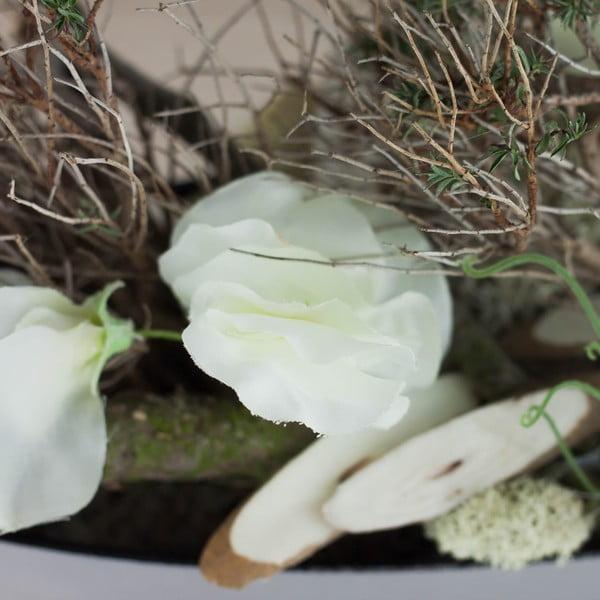 Kvetinová dekorácia od Aranžérie, hrachor - biele kvety