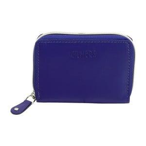 Modré kožené puzdro na kreditné karty Friedrich Lederwaren
