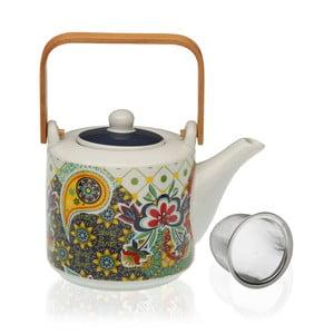 Porcelánová kanvička na čaj so sitkom Versa Giardino