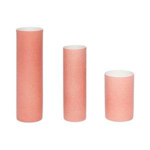 Sada 3 ružových váz Hübsch Tycho