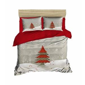 Vianočné obliečky na dvojlôžko s plachtou Rita, 160×220 cm