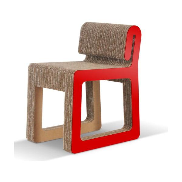 Kartónová stolička Hook Red