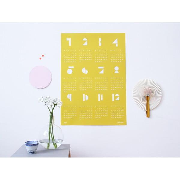 Nástenný kalendár SNUG.Toy 2016, žltý