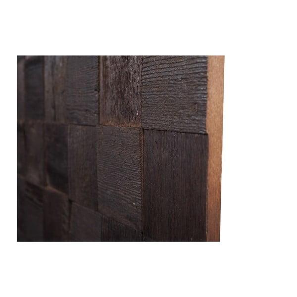 Nástenná dekorácia Wooden Brown, 60x60 cm