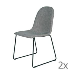 Sada 2 sivých stoličiek Cooper Grey