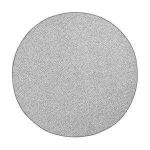 Okrúhly koberec BT Carpet Wolly v sivej farbe, ⌀ 133 cm