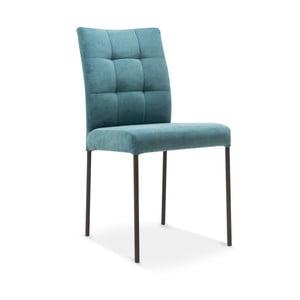 Tyrkysová jedálenská stolička s čiernymi nohami Jakobsen home Matrix