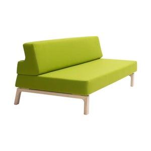 Zelená rozkladacia sedačka Softline Lazy