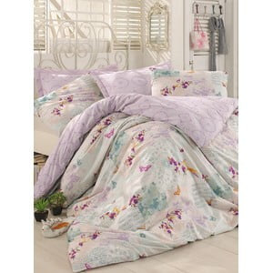 Fialové obliečky s plachtou Love Colors Molly, 160 x 220 cm