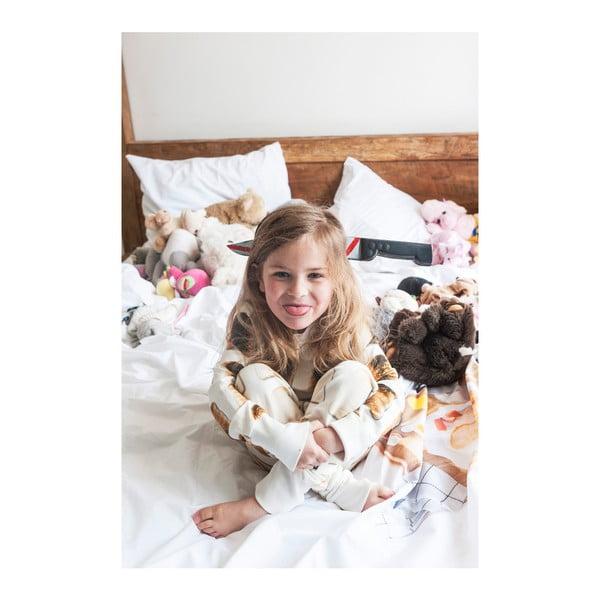 Biela dievčenská mikina Snurk Toast, 128